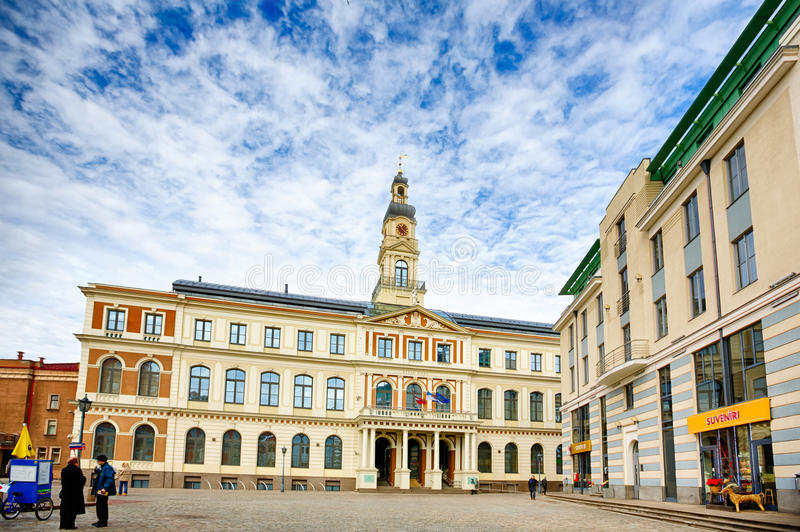 City hall in Riga stock photos