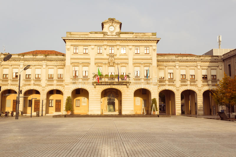 City hall San Dona di Piave Italy. City hall in San Dona di Piave near Venice in Italy stock photos