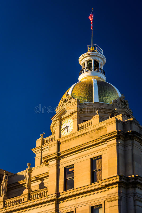 City Hall, in Savannah, Georgia. stock photo