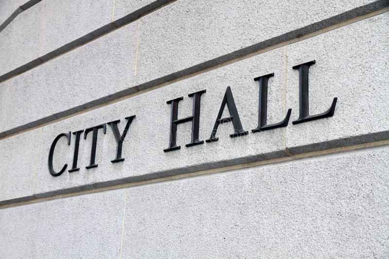 Download City Hall Sign Royalty Free Stock Images - Image: 23233619