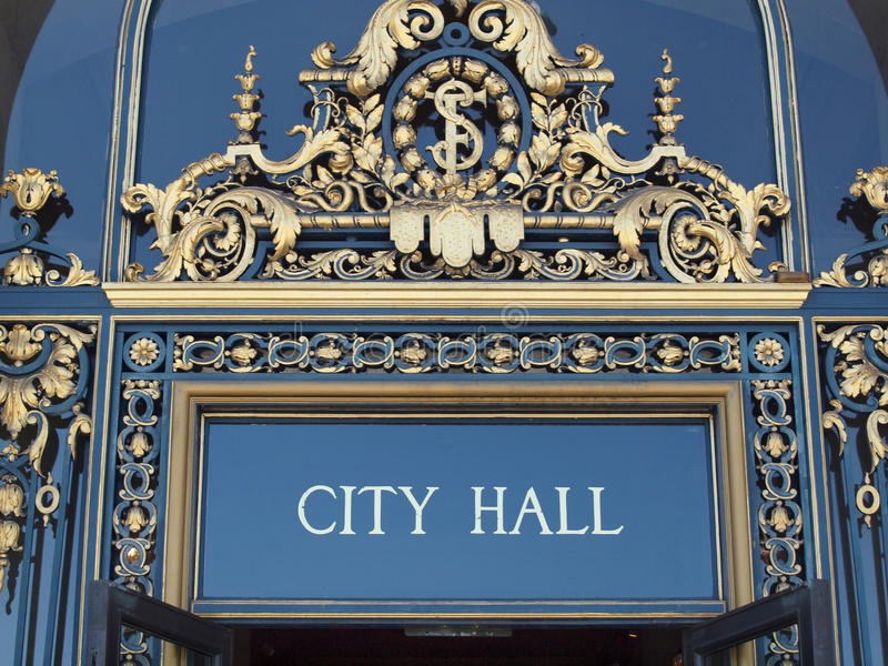 Download City Hall Sign stock image. Image of municipal, local - 29010277