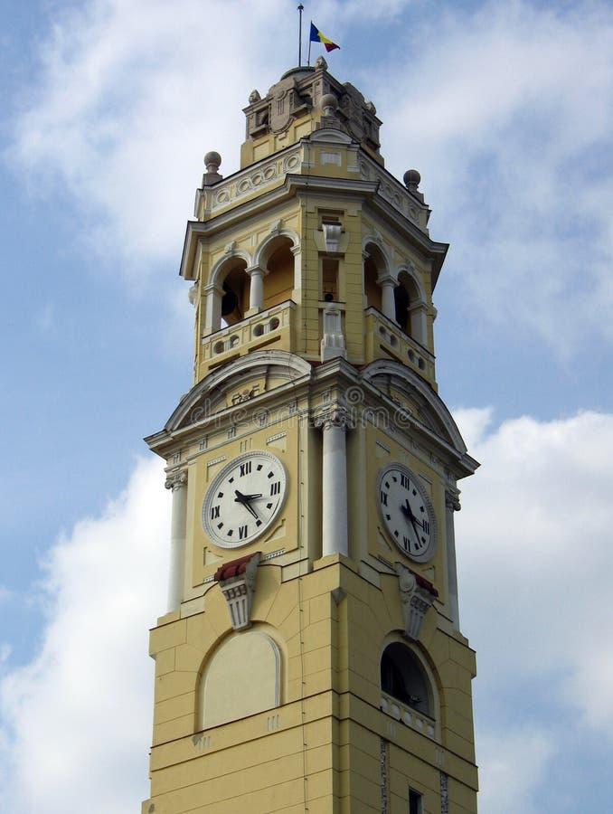 City Hall Tower, Oradea, Romania royalty free stock photography
