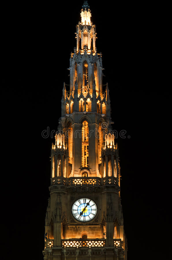 Download City hall tower in Vienna stock photo. Image of sight - 28218534