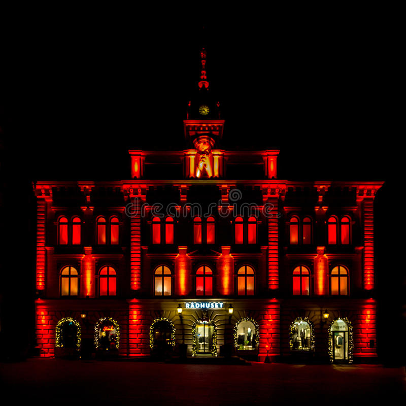 City Hall in Uppsala stock images
