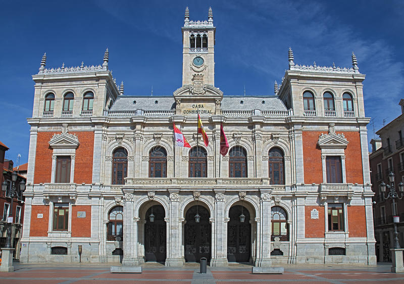 Download City Hall of Valladolid stock image. Image of statue - 26798659