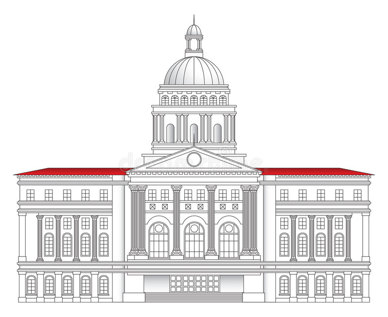 Download City Hall Vector Illustration Stock Vector - Image: 5015667