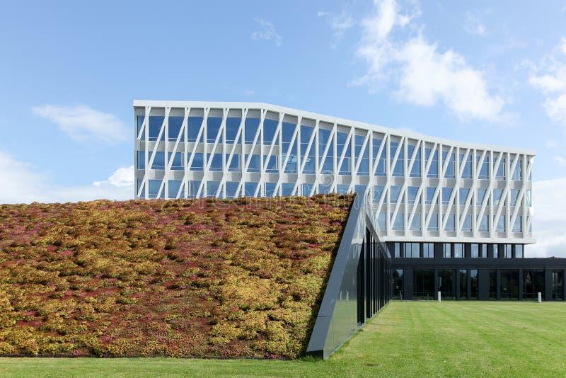 City hall of Viborg in Denmark. Viborg, Denmark - August 27, 2015: City hall of Viborg in Denmark from Henning Larsen international architecture firm stock photography