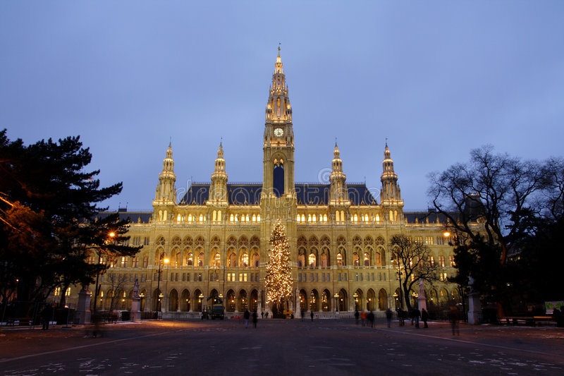 City hall in Vienna stock photography