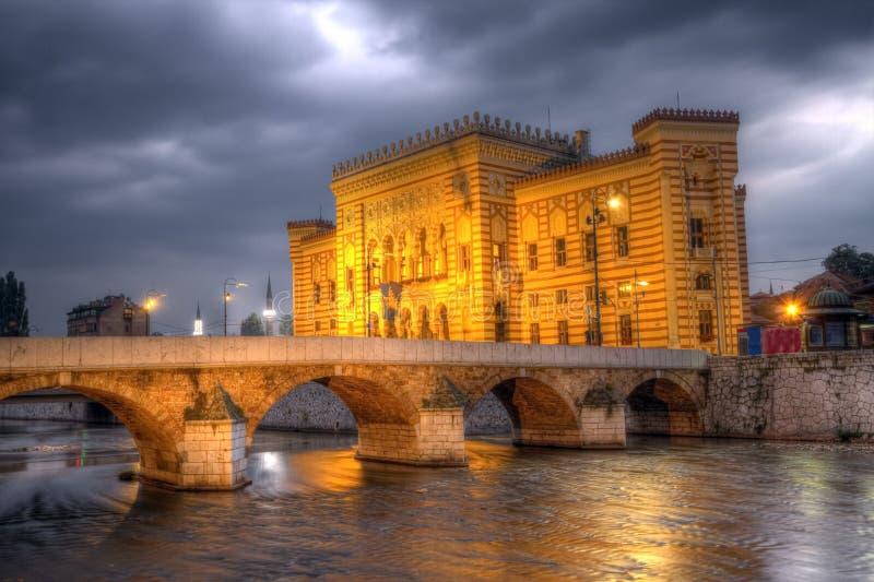 City hall, Vijecnica, in Sarajevo, Bosnia and Herzegovina, HDR royalty free stock photos
