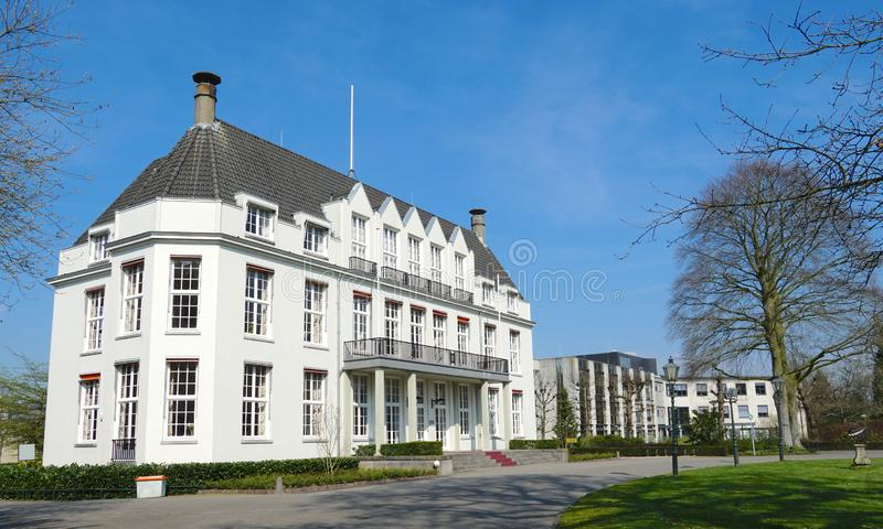 City hall of Bilthoven in the Netherlands. City hall in the village of Bilthoven and De Bilt, Utrecht province, the Netherlands royalty free stock image