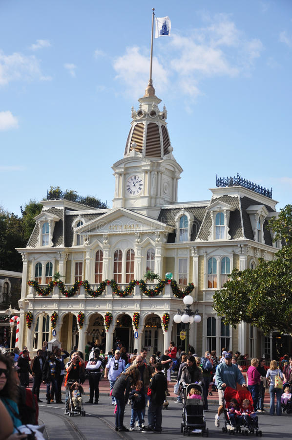 City Hall In Walt Disney World Editorial Stock Image