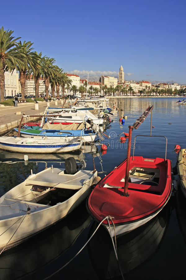 City harbor, Split royalty free stock photography