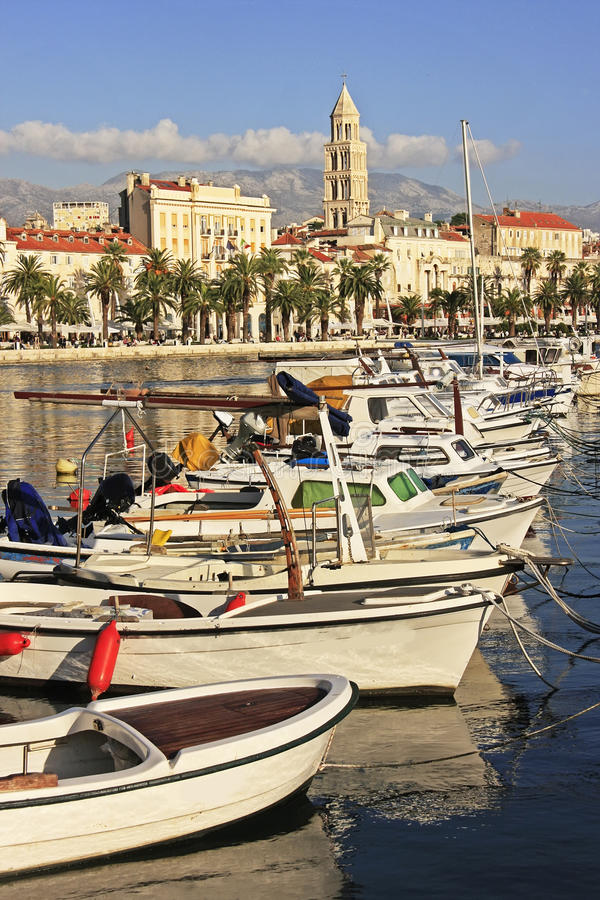 City harbor, Split royalty free stock images