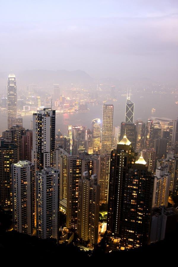 city hong kong skyline στοκ εικόνες