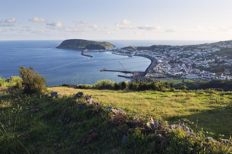 City of Horta, Faial, Azores royalty free stock image
