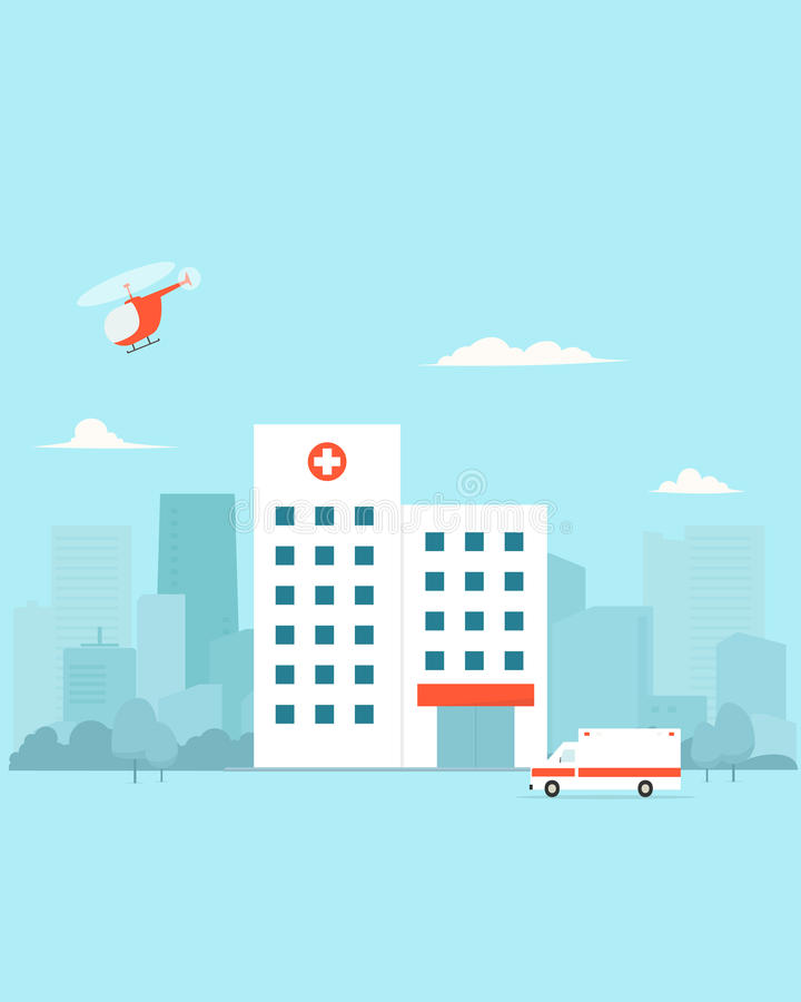 City Hospital building vector illustration