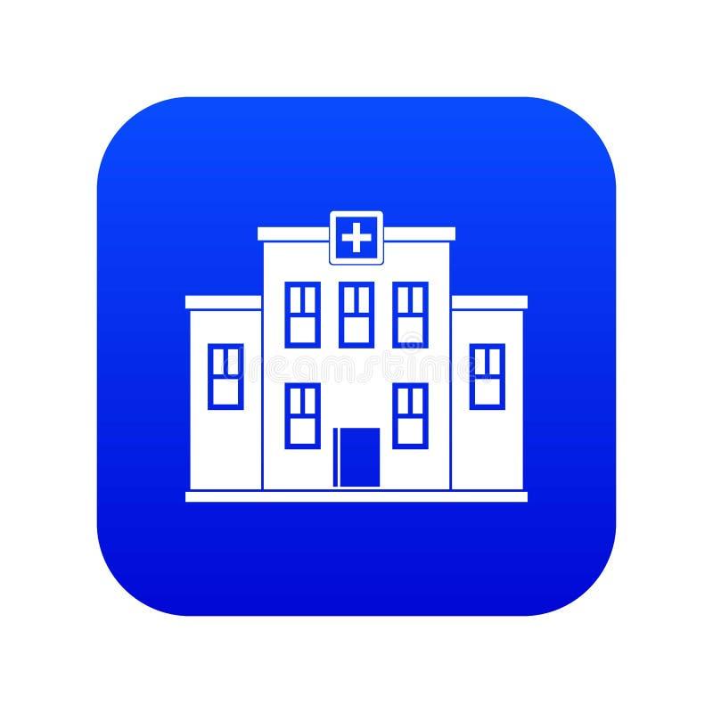 City hospital building icon digital blue stock illustration