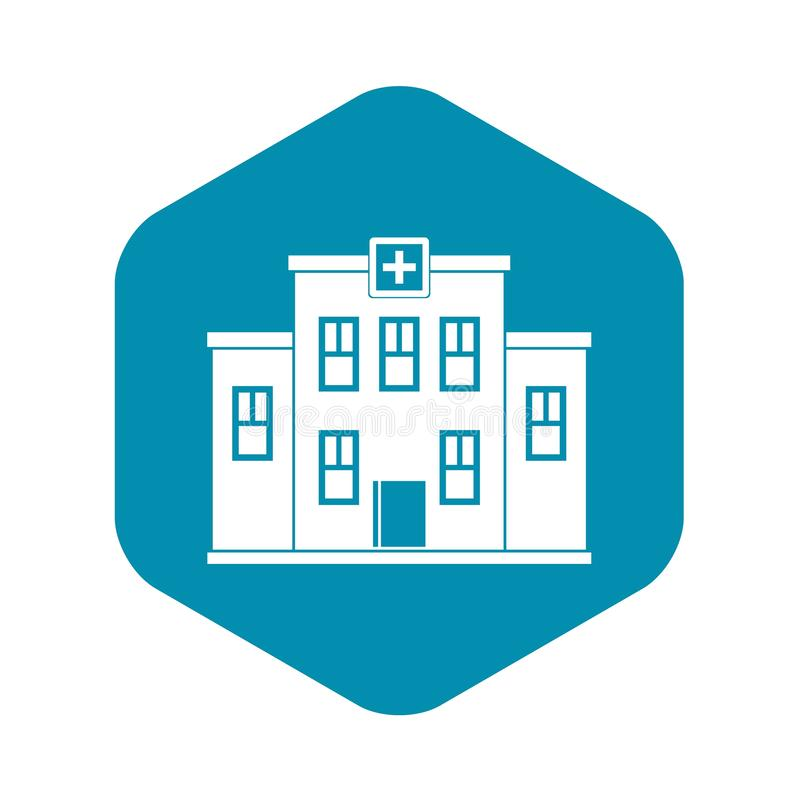 City hospital building icon, simple style stock illustration