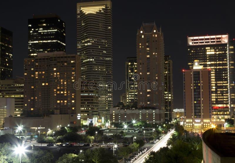 City Houston night stock image
