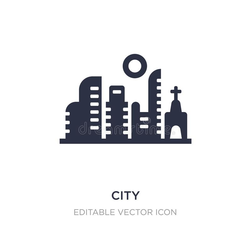 city icon on white background. Simple element illustration from Buildings concept stock illustration