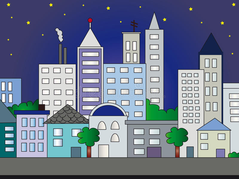City illustration vector illustration
