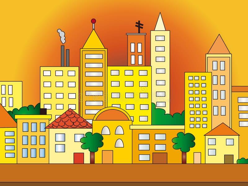 City illustration royalty free illustration