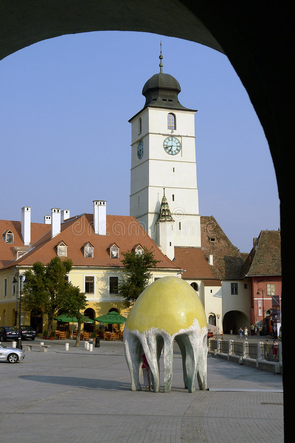 Free City In Arch - Sibiu Royalty Free Stock Photography - 2823917