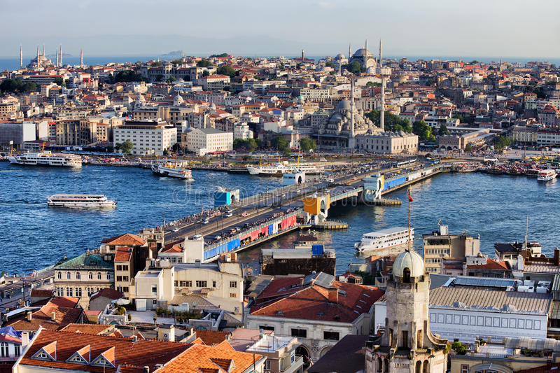 City of Istanbul Cityscape in Turkey royalty free stock images