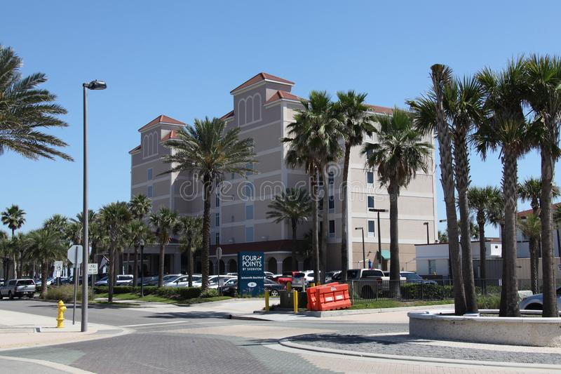 City of jacksonville beach in florida royalty free stock image