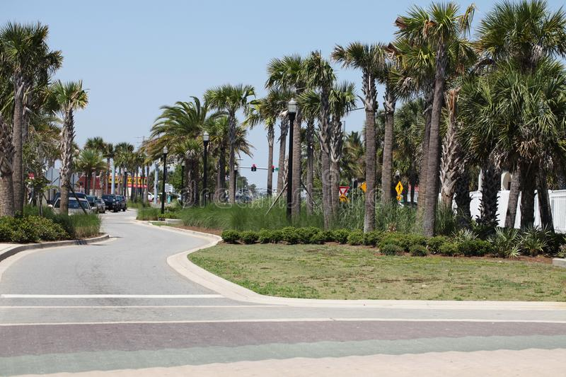 City of jacksonville beach in florida stock image