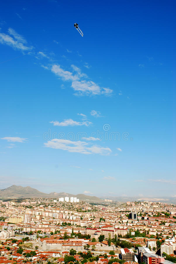 Download City and kite stock photo. Image of clouds, crowded, cloud - 14373484