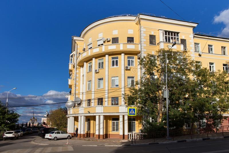 Old buildings in the center of Samara. The city, known from 1935 to 1991 as Kuybyshev, is the sixth largest city in Russia. It is situated in the southeastern stock images