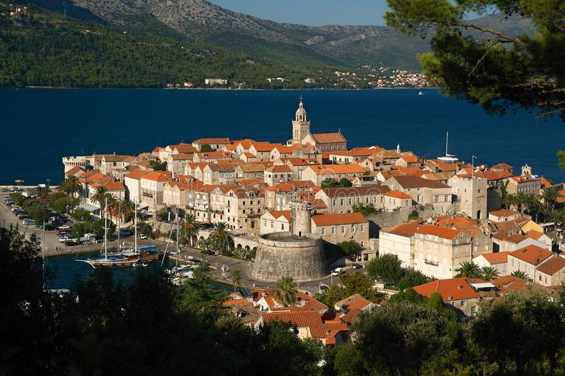 Download City of Korcula stock image. Image of island, church - 23309967