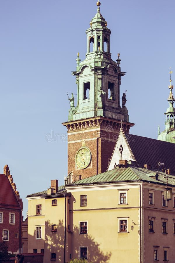 City of Krakow in Poland, Main Square in the Old Town.  royalty free stock images