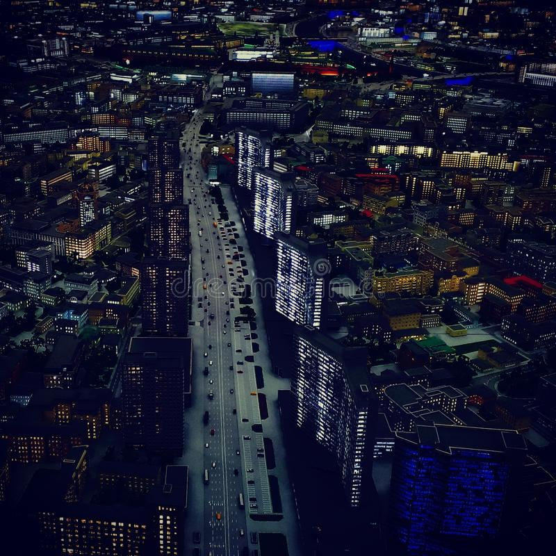 city krilatskoe moscow night στοκ εικόνες
