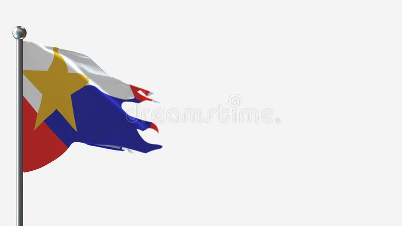 City Of Lafayette >> City Of Lafayette 3d Waving Flag Illustration On Winner