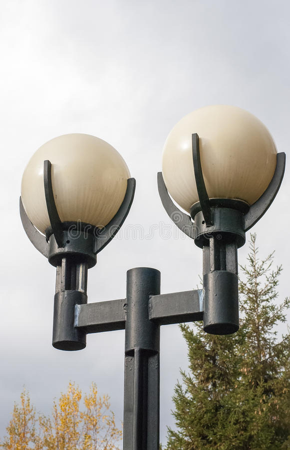 City lamps royalty free stock photography