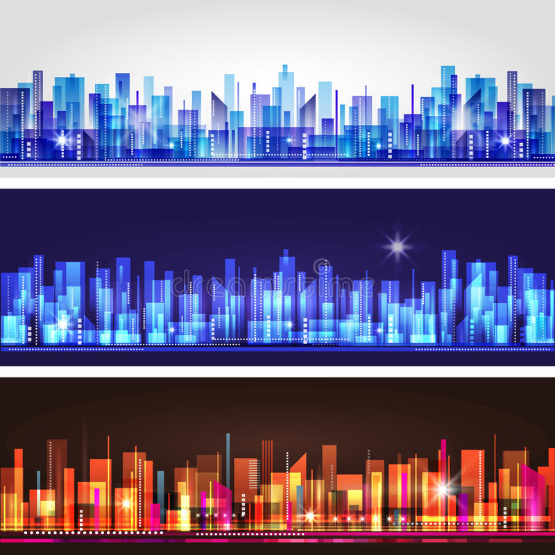City landscape vector illustration