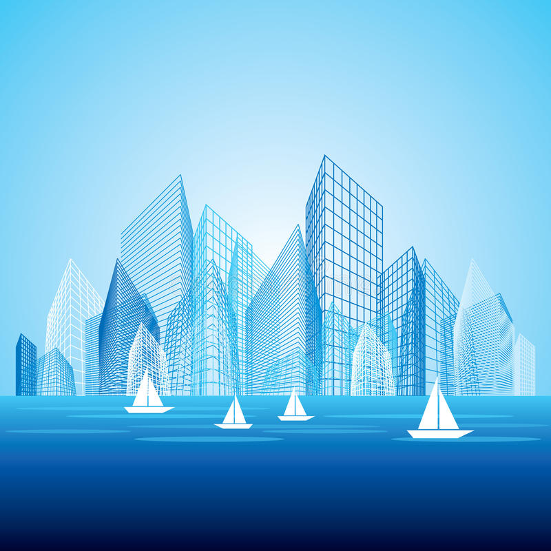 Download City landscape stock vector. Image of downtown, abstract - 26887859