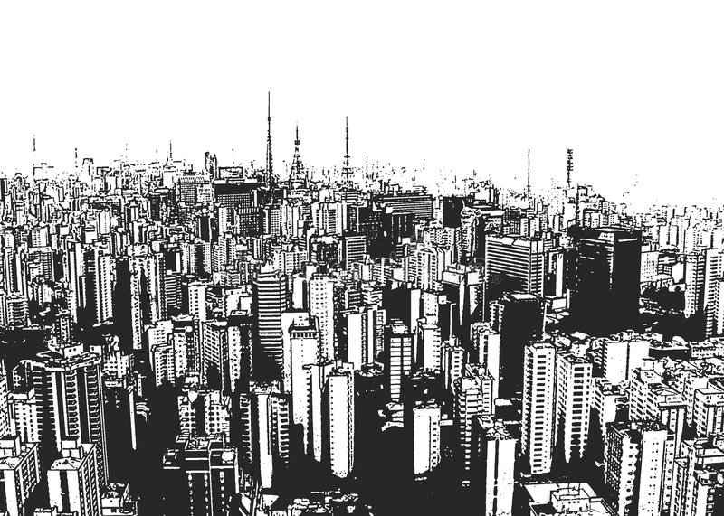 City Landscape royalty free illustration