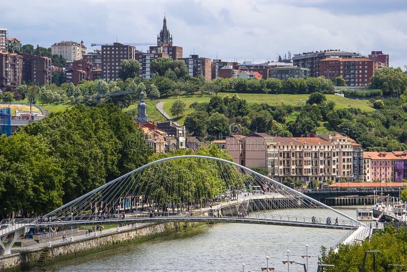 City landscape Bilbao, Spain. stock photo