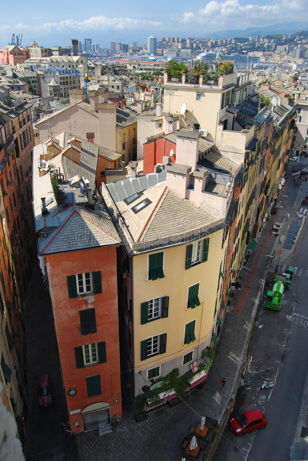 Download City Landscape With A Corner House At The Head Stock Image - Image: 23621553