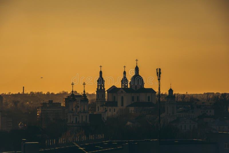 City Landscape during Dusk stock image