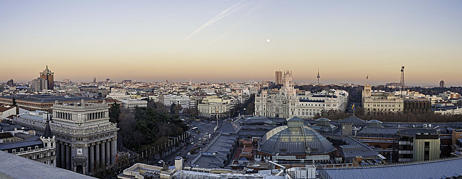 City Landscape during Sunset royalty free stock photography