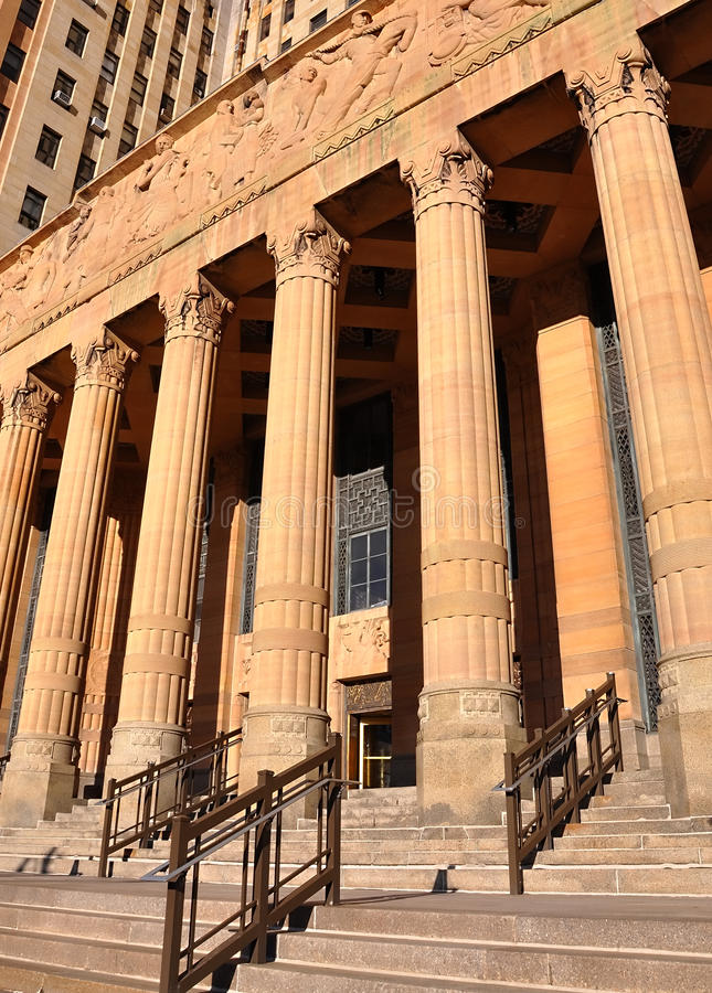 City Law Justice Court Building with Columns royalty free stock photos