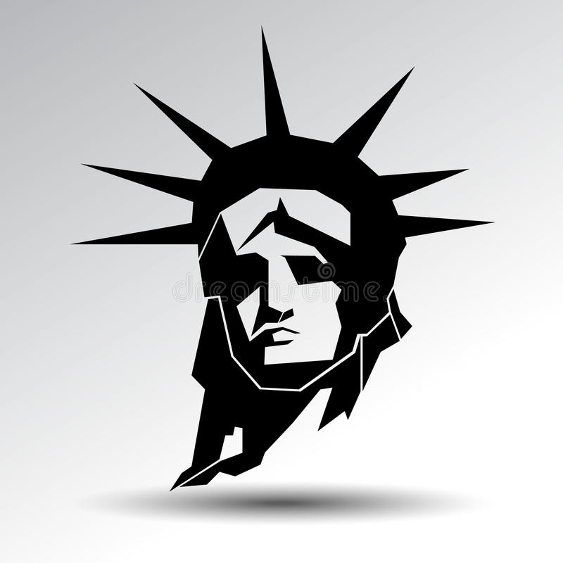 city liberty newyork statue sunset landmark New York amerikanskt symbol Vektorsi royaltyfri illustrationer