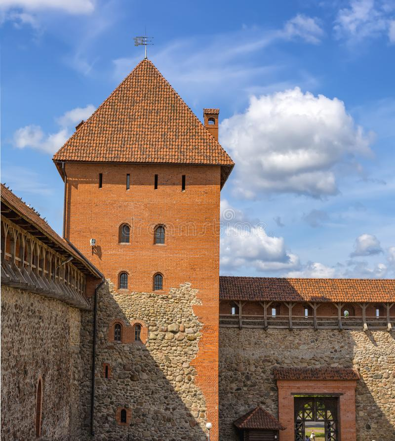Lida castle, a castle in the Republic of Belarus in Lida, built in 1323 on behalf of Prince Gediminas. The city of Lida. Republic of Belarus 04 August 2019. Lida stock photography