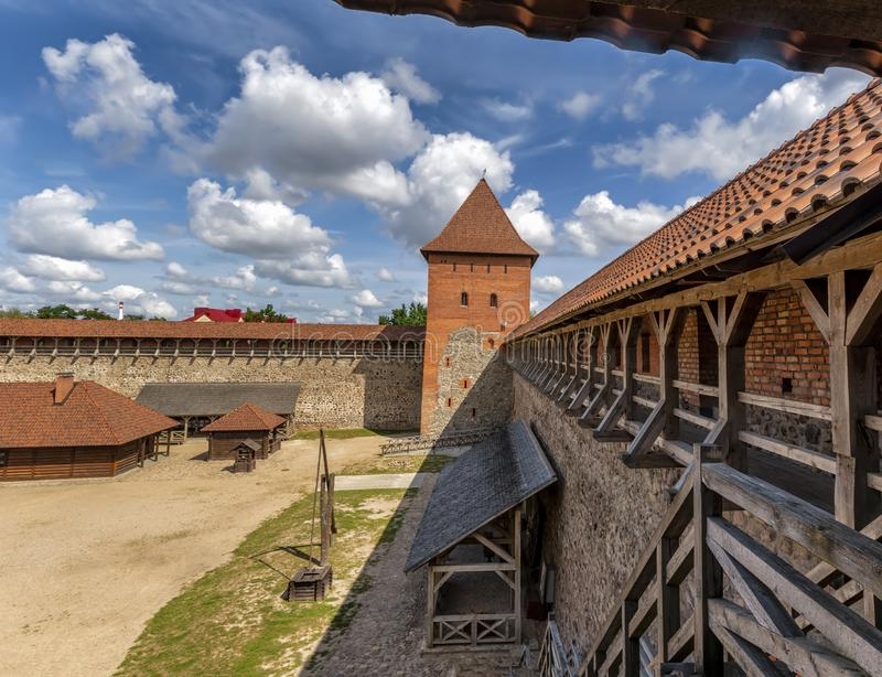 Lida castle, a castle in the Republic of Belarus in Lida, built in 1323 on behalf of Prince Gediminas. The city of Lida. Republic of Belarus 04 August 2019. Lida royalty free stock image