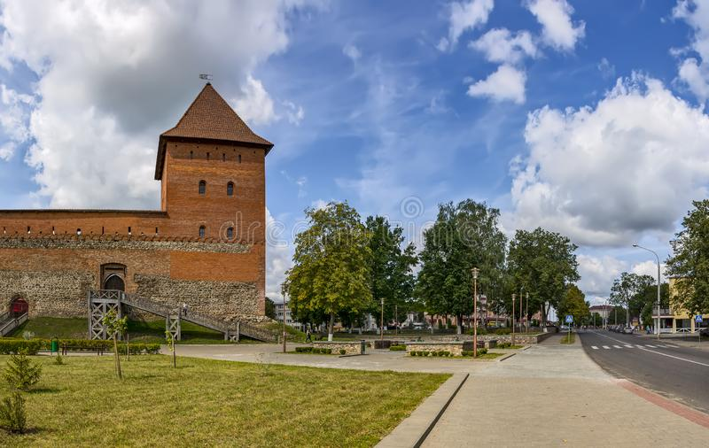 Lida castle, a castle in the Republic of Belarus in Lida, built in 1323 on behalf of Prince Gediminas. The city of Lida. Republic of Belarus 04 August 2019. Lida royalty free stock photos