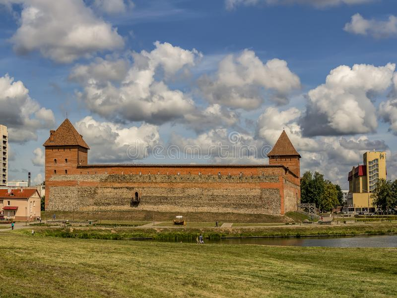 Lida castle, a castle in the Republic of Belarus in Lida, built in 1323 on behalf of Prince Gediminas. The city of Lida. Republic of Belarus 04 August 2019. Lida stock photo